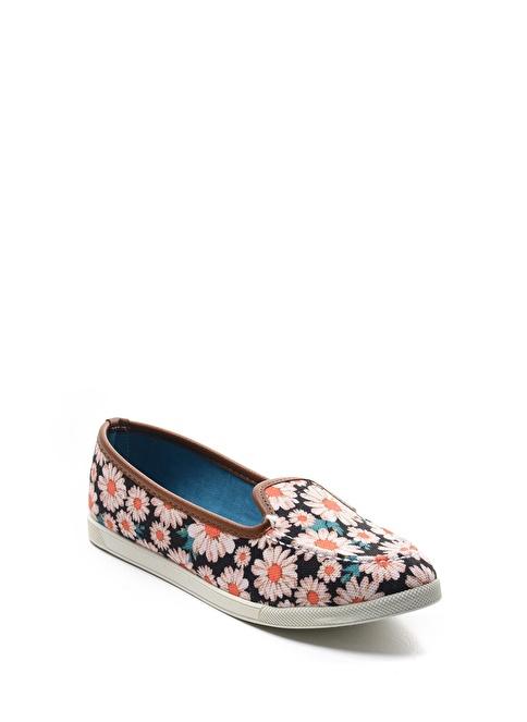 Sapin Çiçek Desenli Ayakkabı Mavi
